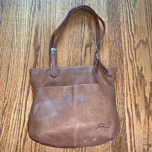 Stone Mountain Brown Pebbled Leather Tote Purse